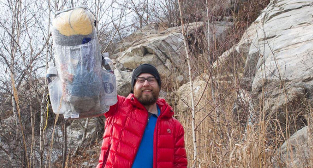 Appalachian Ultralight founder Cody Miller hoists his 6-ounce creation, the Balloon ($200).