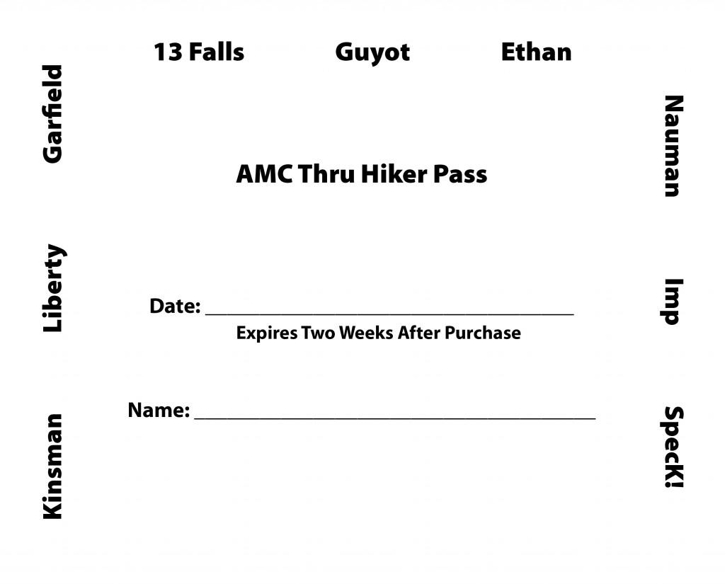 AMC thru-hiker pass program