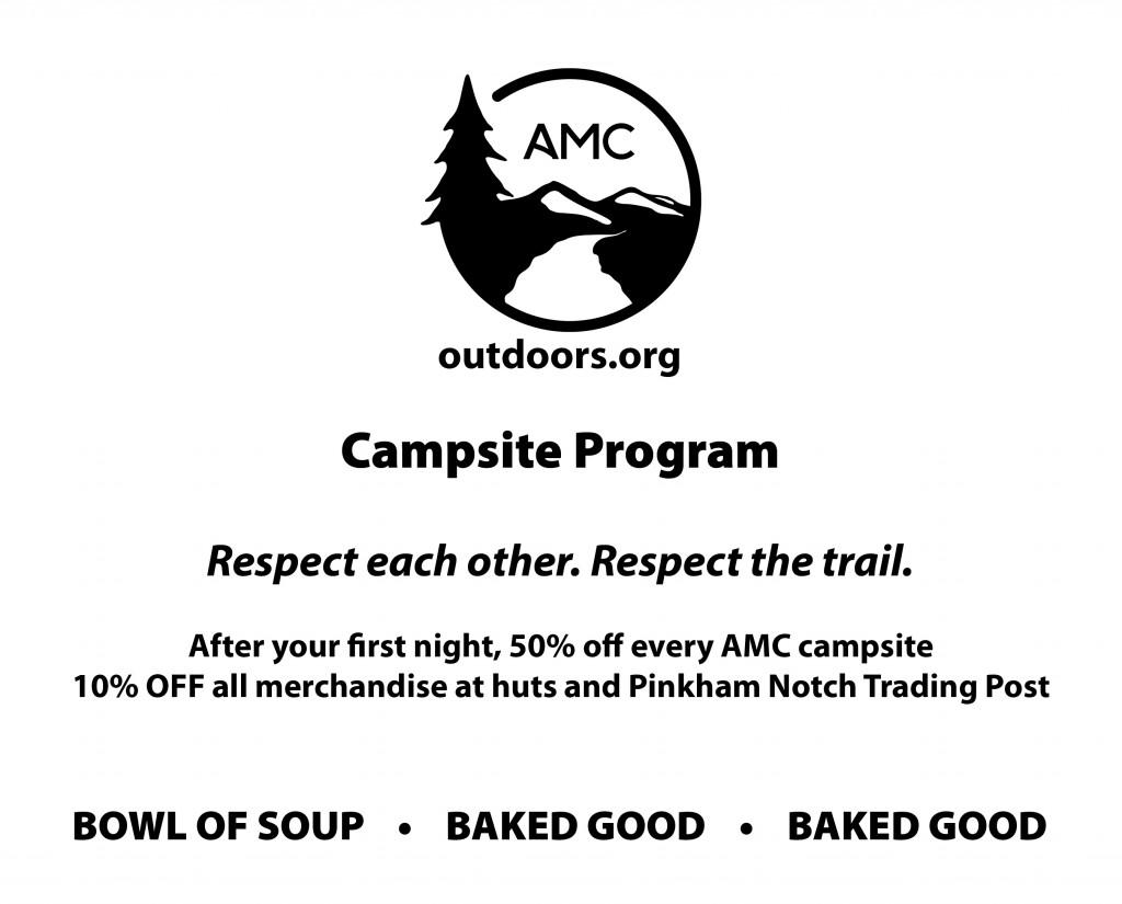 AMC thru-hiker campsite program