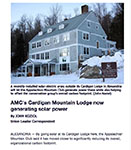 New Hampshire Union Leader Review of Cardigan Lodge