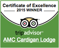 Cardigan Lodge TripAdvisor 2015 Certificate of Excellence Badge