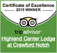 Highland Center TripAdvisor 2015 Certificate of Excellence