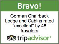 Gorman Chairback Lodge TripAdvisor Bravo Badge