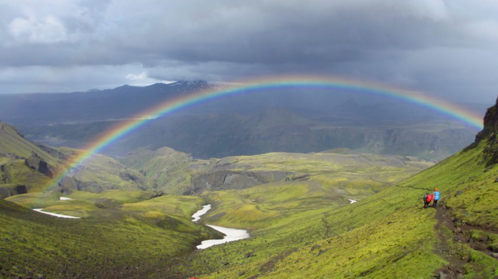 Iceland: A rainbow heralds a welcome respite from the rain on the Laugavegur Trail