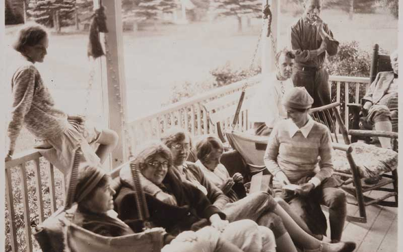 Women-on-Porch-1930s-cold-river-camp