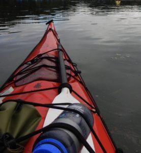 Kayaking along the coast
