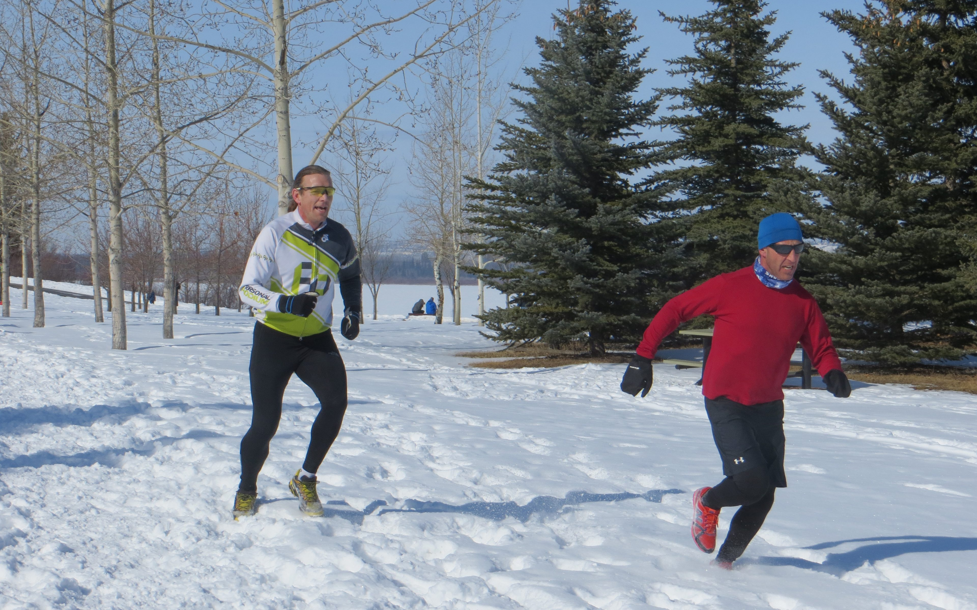 how to run on snow and ice
