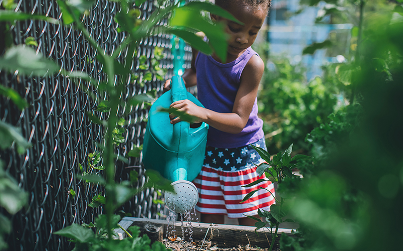 Gardening can help young and old feel less anxious and more hopeful.