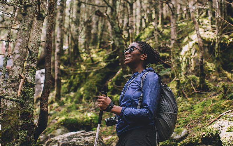 The outdoors helps lower anxiety and stress.
