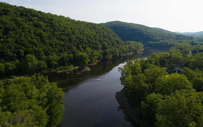 The D&L Trail offers gorgeous views of the Delaware River.