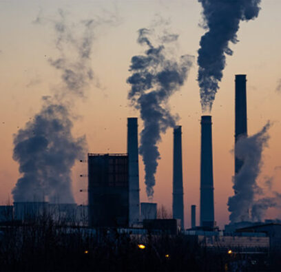 factory smoke stacks