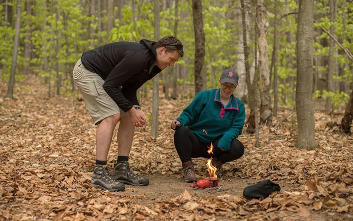 AMC recommends using packable and lightweight camp stoves for cooking instead of building a campfire.