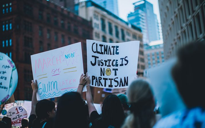 Young activists call for swift action on climate change during the 2019 Climate Strike in Boston.
