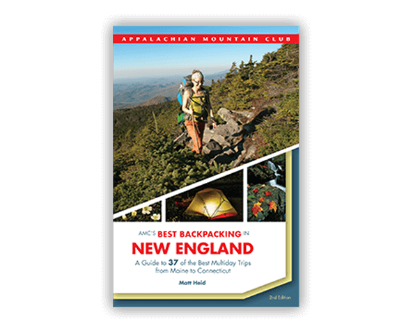 best backpacking in new england book cover