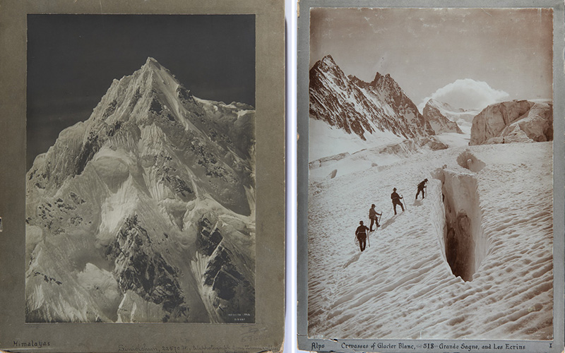 Two of the Vittorio Sella photographs up for auction.