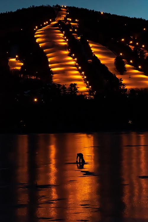 'Ice Fisherman by Shawnee Peak'