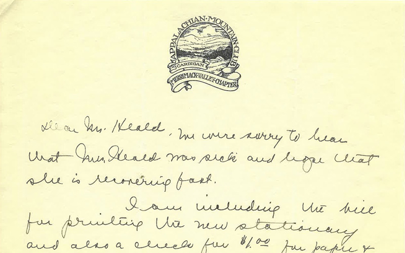 AMC's Merrimack Valley in New Hampshire Chapter letterhead