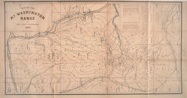 1882 pickering white mountain map