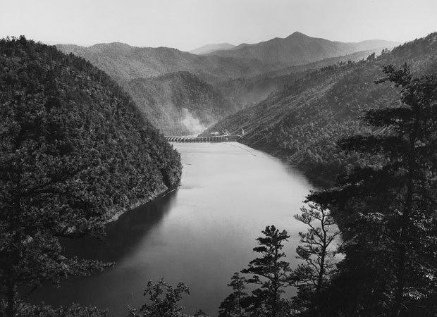 Santeethlah Lake as captured by George Masa