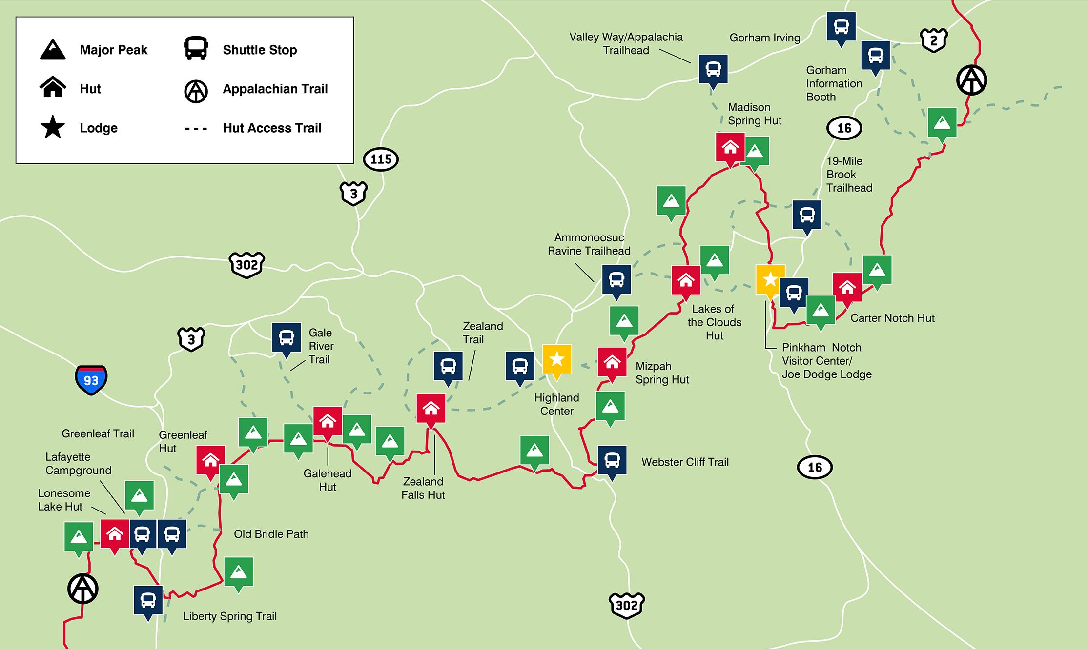 AMC Shuttle Map