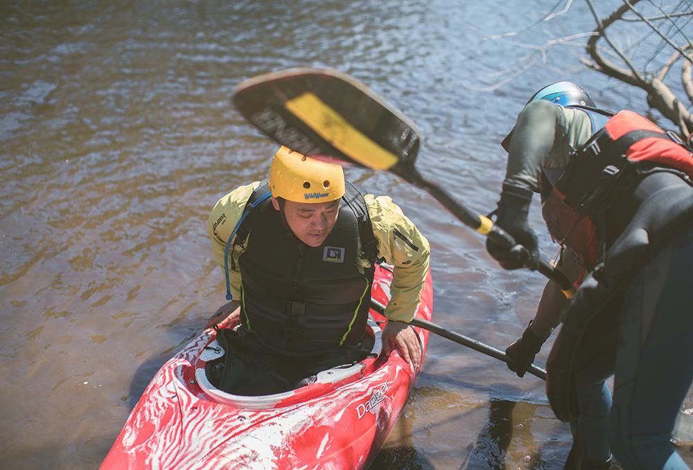 swiftwater paddling